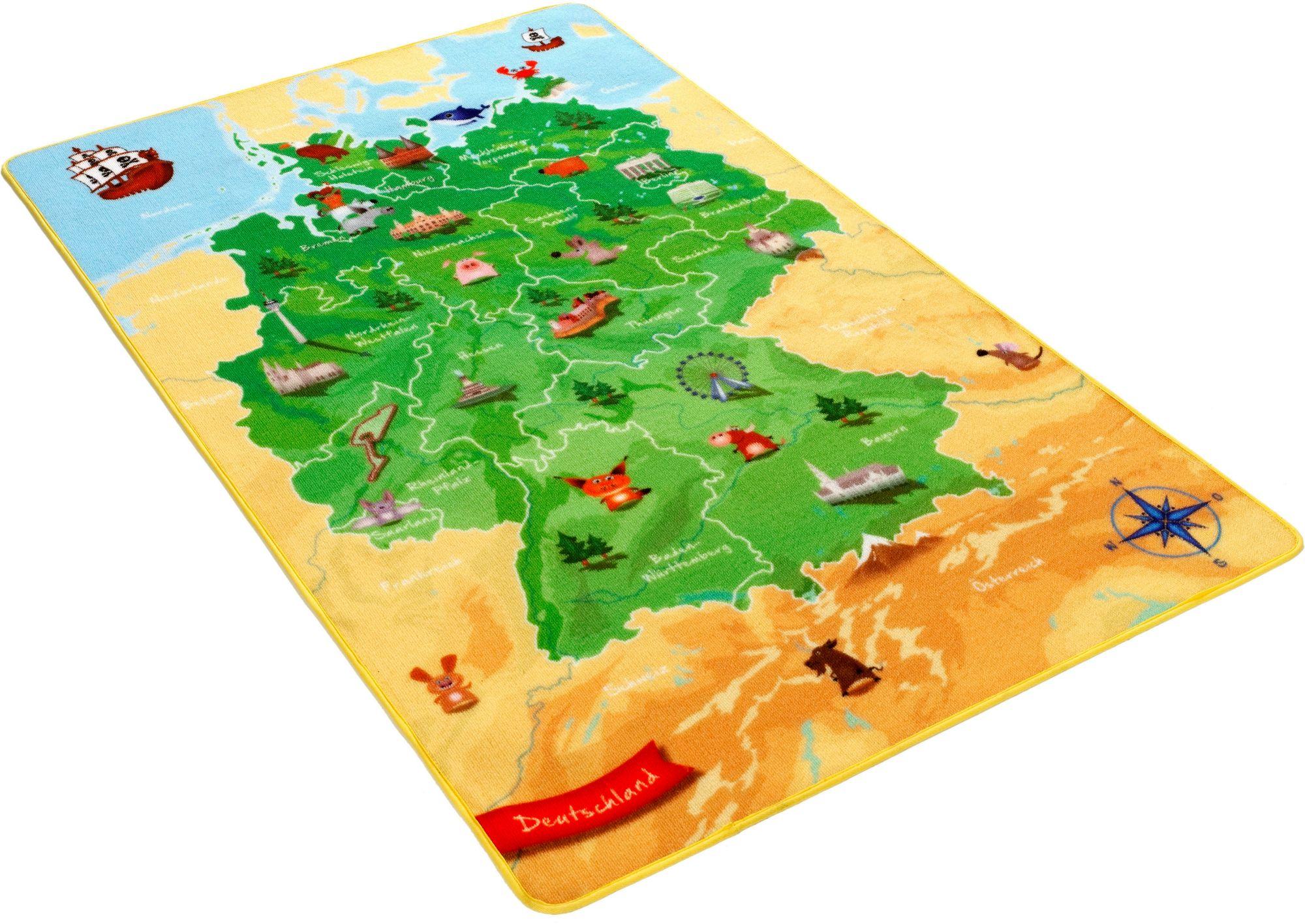 BÖING CARPET Kinder-Teppich, Böing Carpet, »Deutschlandkarte DE-2«