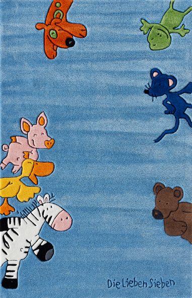 DIE LIEBEN SIEBEN Teppich, Die Lieben Sieben, »LS-2195-01«, handgetuftet, Konturenschnitt, Brilliante Farben