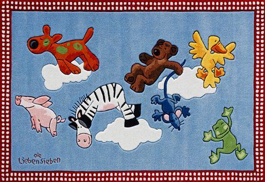 DIE LIEBEN SIEBEN Teppich, Die Lieben Sieben, »LS-2198-01«, handgetuftet, Konturenschnitt, Brilliante Farben