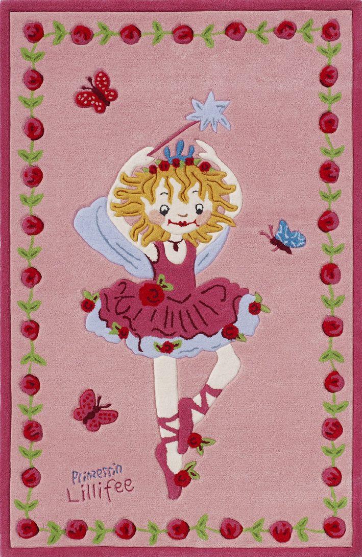 Teppich, Prinzessin Lillifee, »LI-2200-01«, handgetuftet, Konturenschnitt, Brilliante Farben