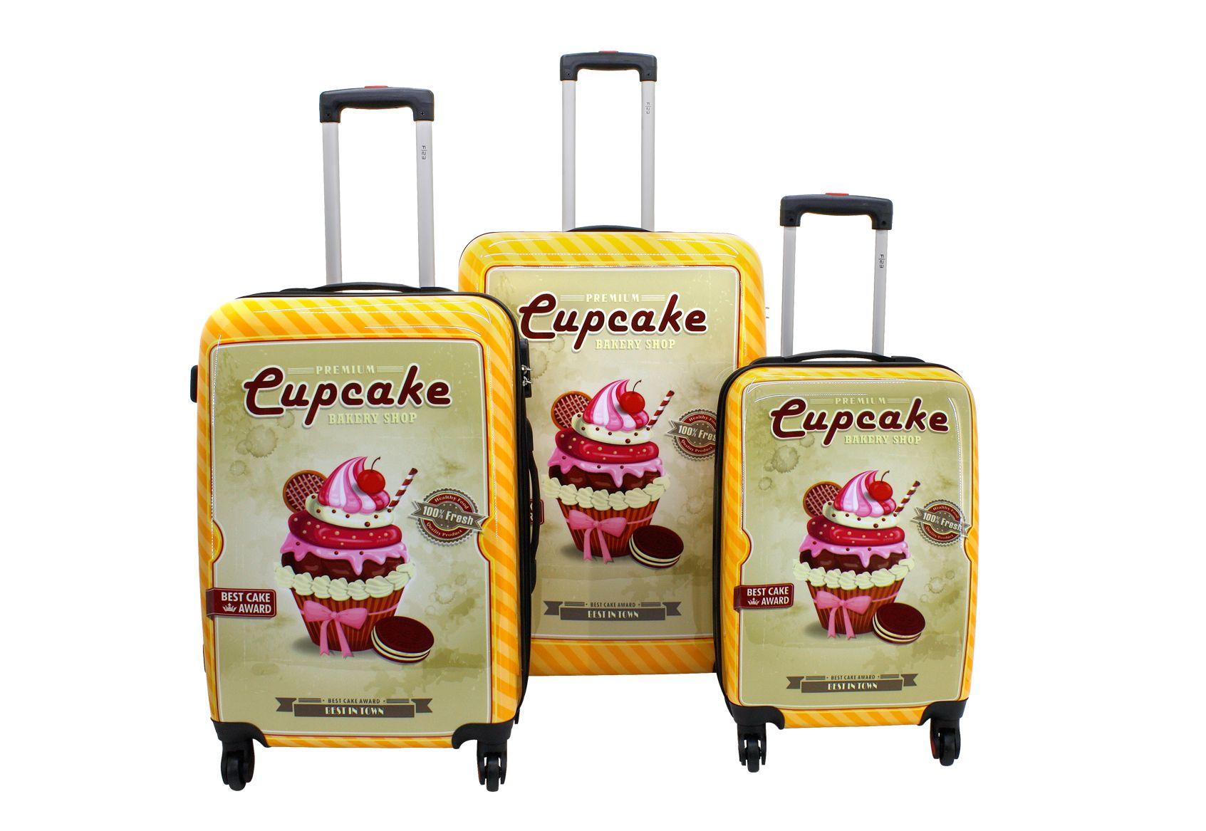 F23 ?, Trolley-Set mit 4 Twisterrollen, »Cupcake« (3tlg.)