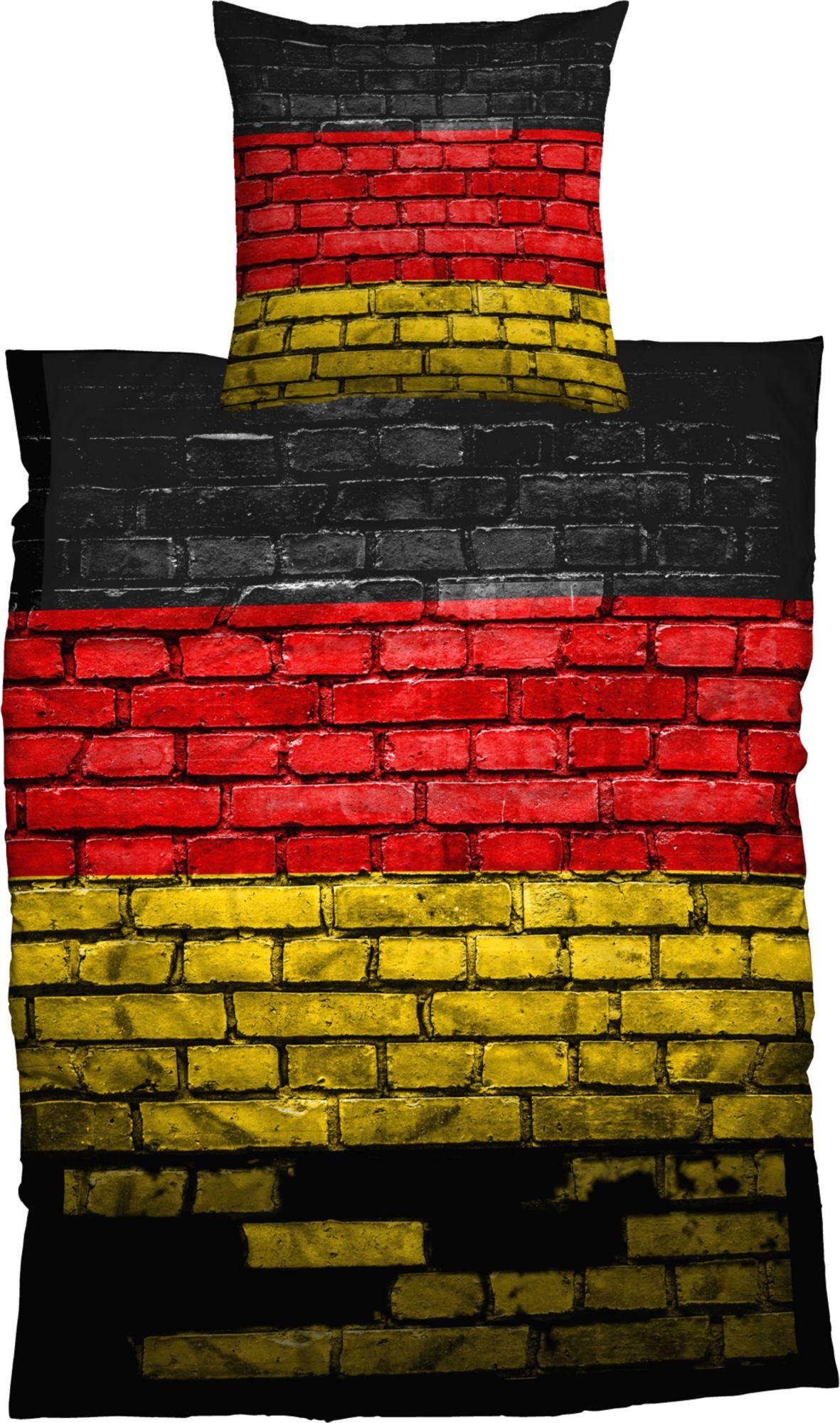 CASATEX Bettwäsche, Casatex, »German Flag«, Steinmauer-Optik
