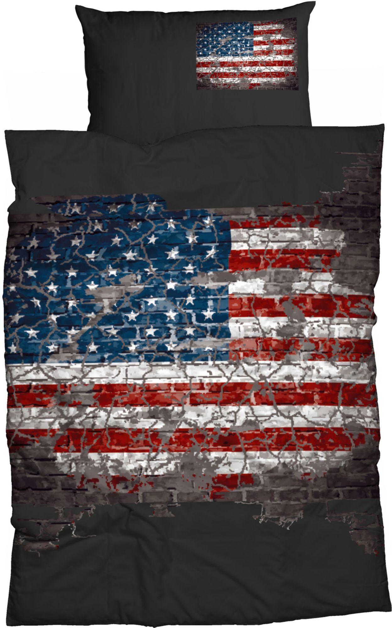 CASATEX Bettwäsche, Casatex, »American Flag«, mit Flaggenmotiv