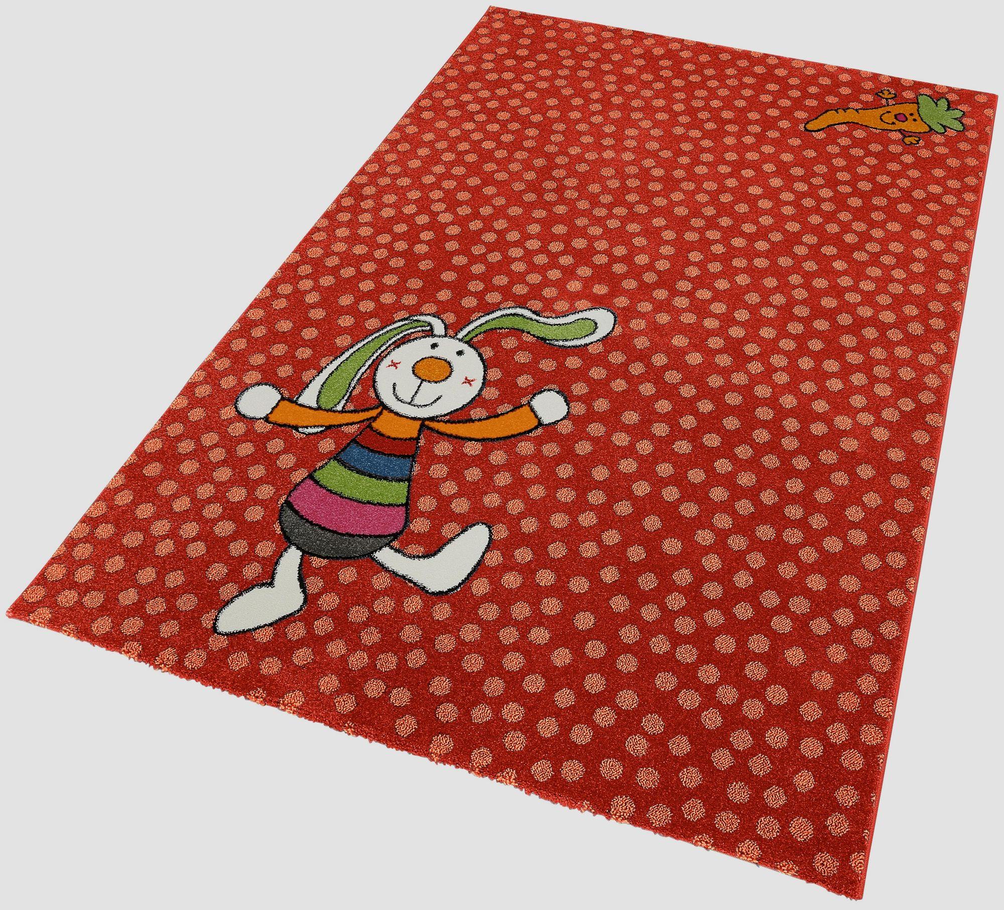 Kinderteppich, »Rainbow Rabbit«, Sigikid, rechteckig, Höhe 13 mm, maschinell gewebt