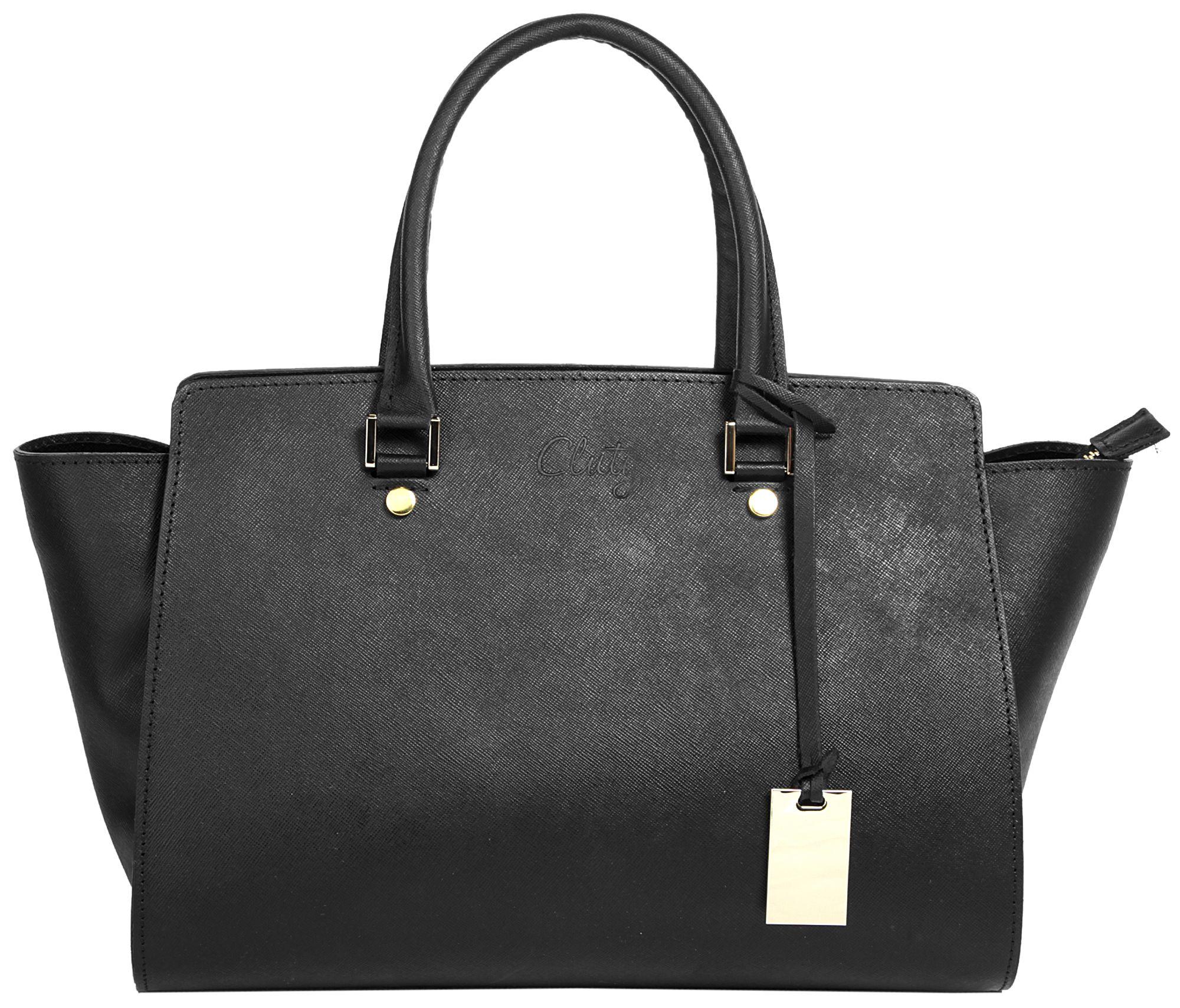 CLUTY Cluty Leder Damen Handtasche »Georgine«