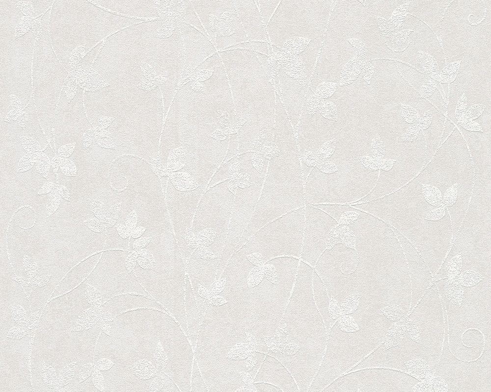 LIVINGWALLS A.S. Creation Vliestapete Memory 2 Blumenranke Weiß