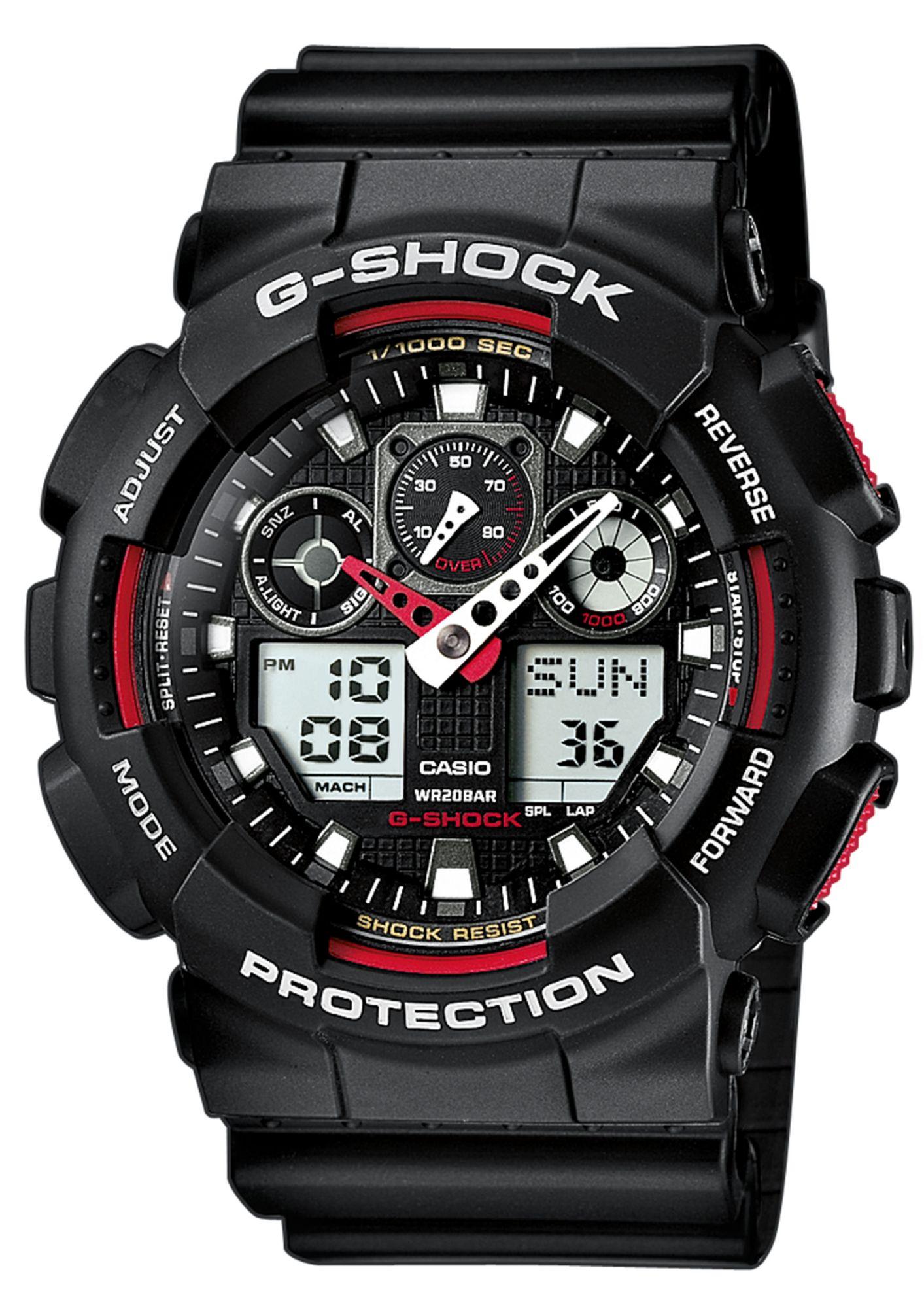 CASIO G SHOCK CASIO G-SHOCK Chronograph, »GA-100-1A4ER«