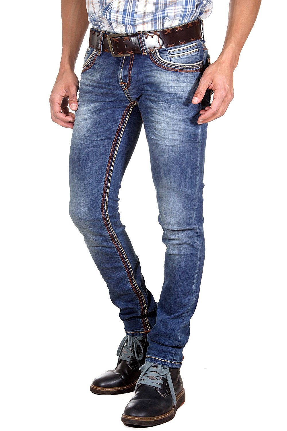BRIGHT JEANS Bright Jeans Stretchjeans slim fit
