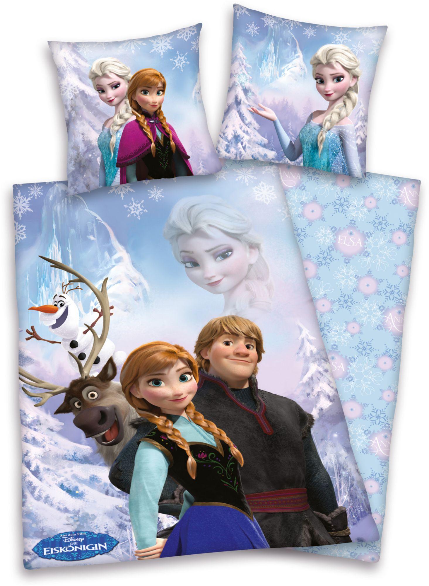 DISNEY Bettwäsche, Disney, »Die Eiskönigin«, aus Bio-Baumwolle