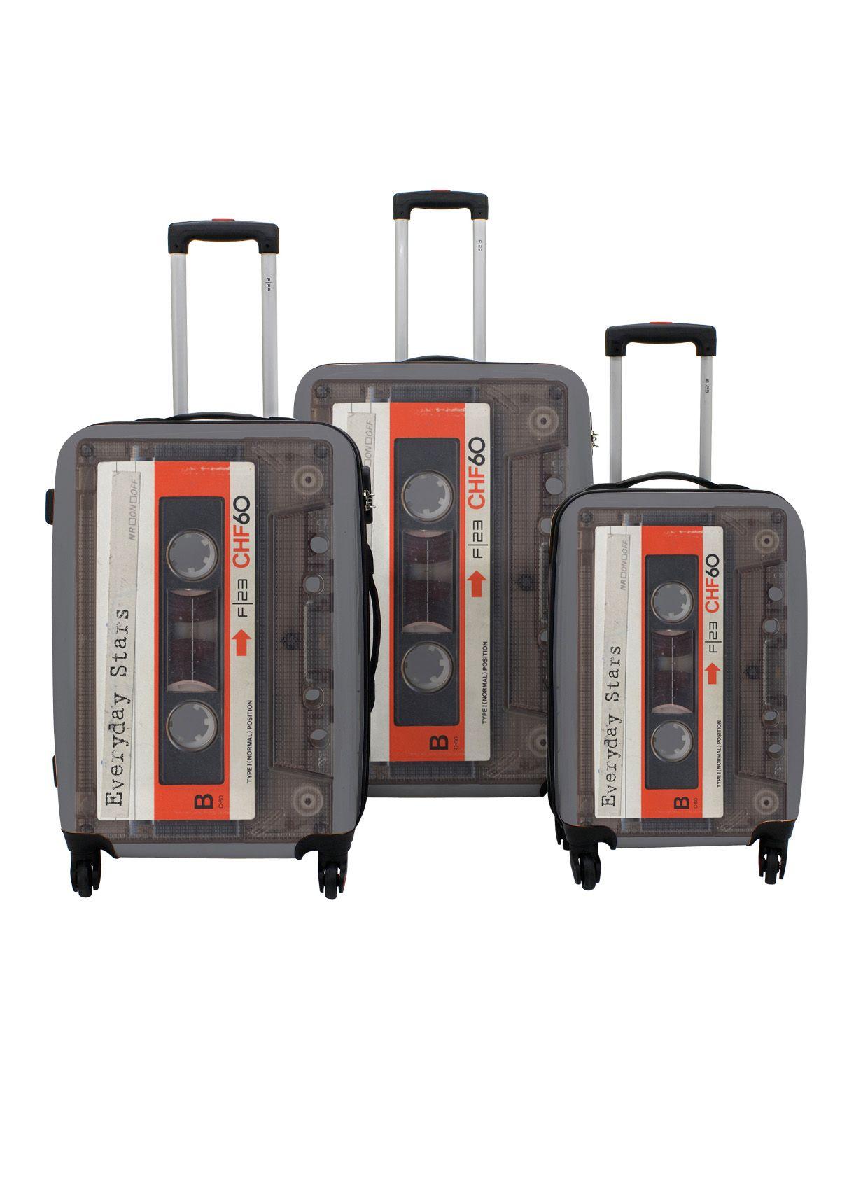 F23 ? Hartschalen-Trolley-Set mit 4 Rollen, »Tape« (3-tlg.)