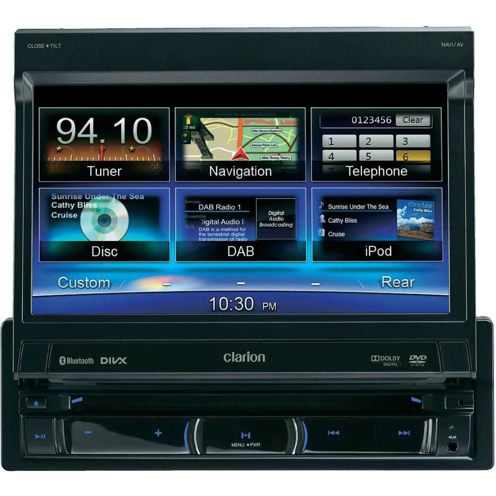 CLARION Clarion 1-DIN Moniceiver mit Navigation »NZ502E«