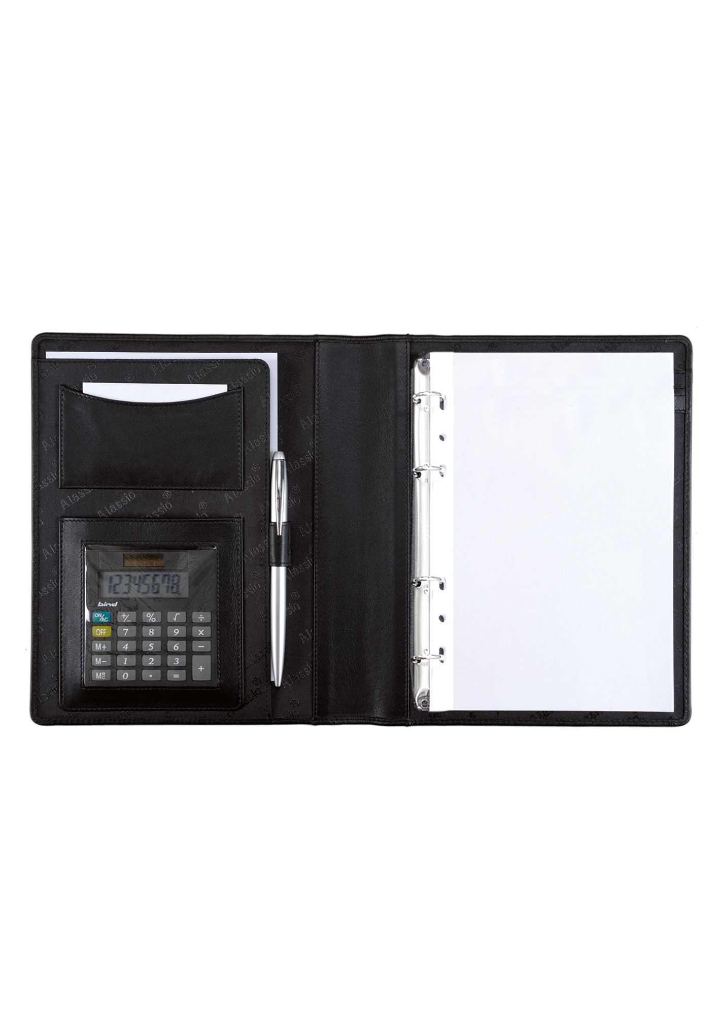 ALASSIO® Alassio® Ringbuchmappe aus Nappaleder mit Taschenrechner A5, »Benaco 1«