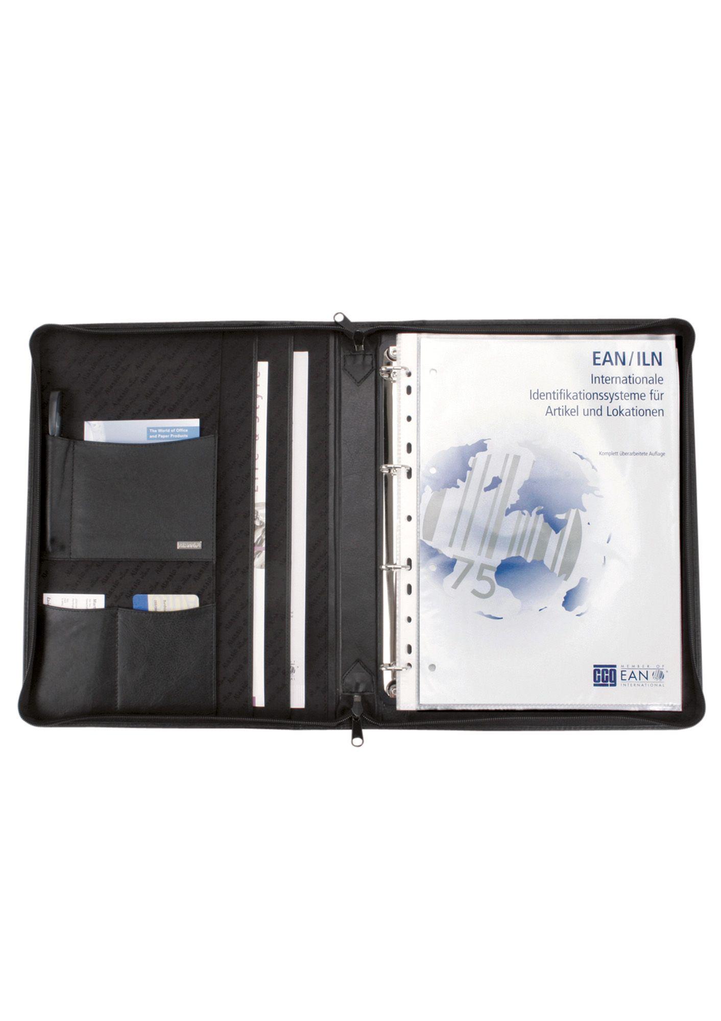 ALASSIO® Alassio® Ringbuchmappe aus Nappaleder mit Reißverschluss A4, »Monza«