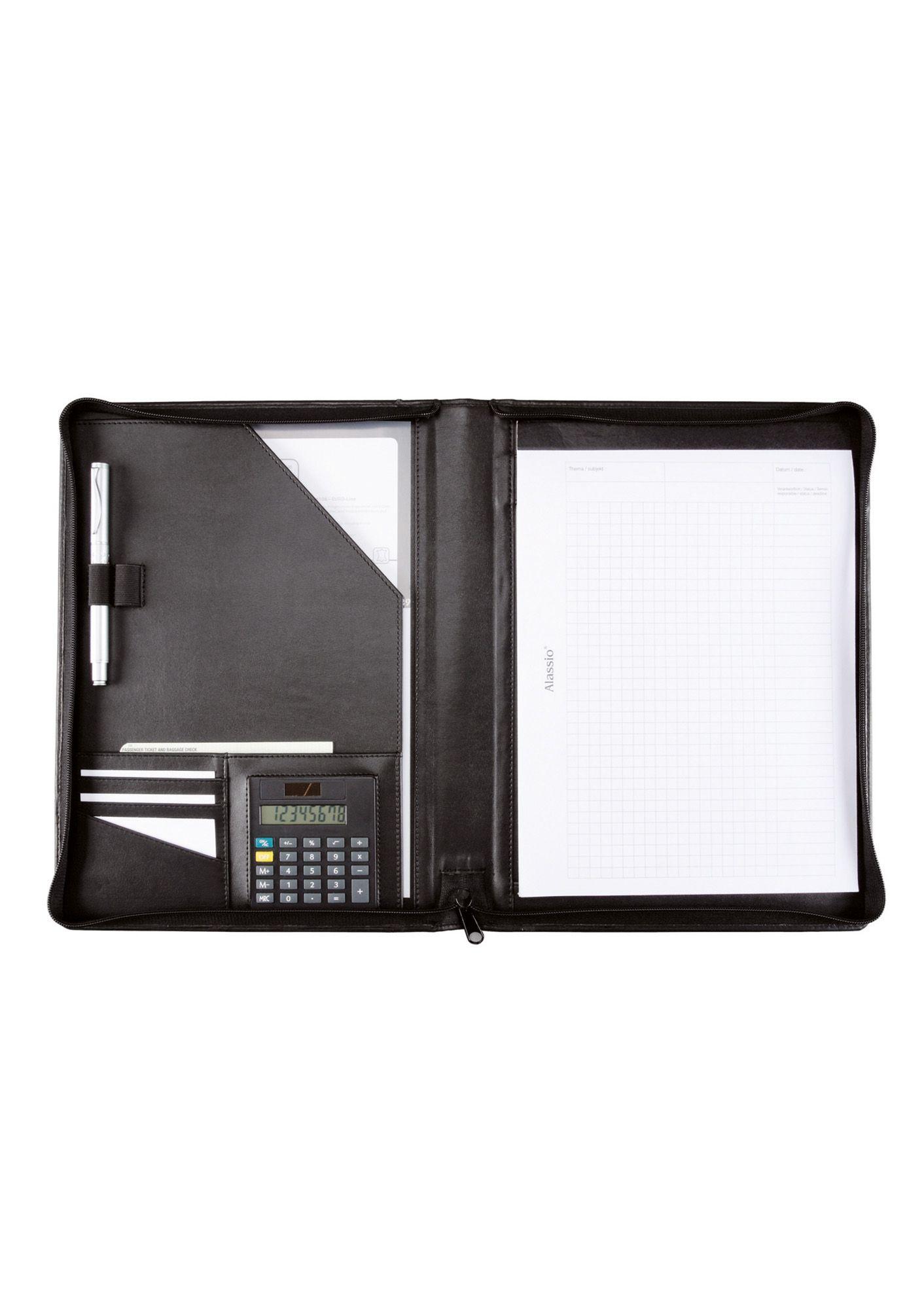 ALASSIO® Alassio® Schreibmappe aus Nappaleder mit Reißverschluss A4, »Catana«