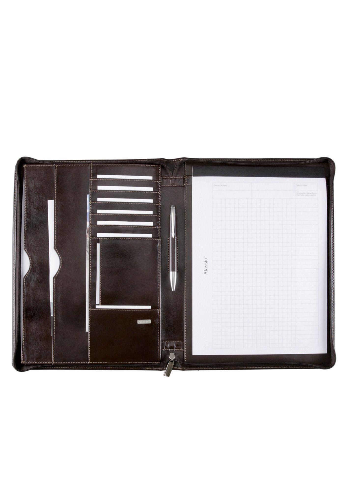 ALASSIO® Alassio® Schreibmappe aus Leder mit Reißverschluss A4, »Monaco«