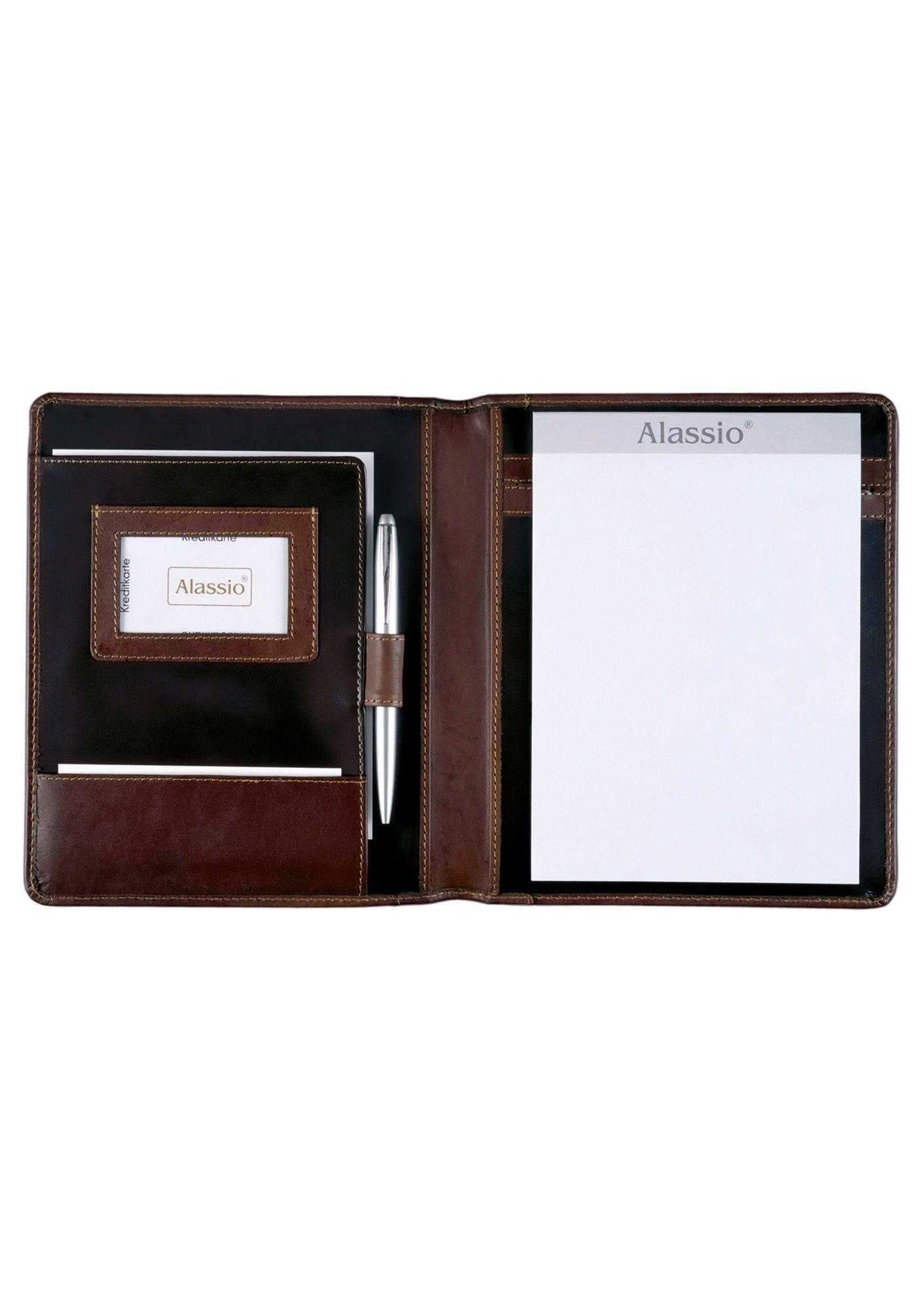 ALASSIO® Alassio® Schreibmappe aus pflanzlich gegerbtem Leder A5, »Monaco«