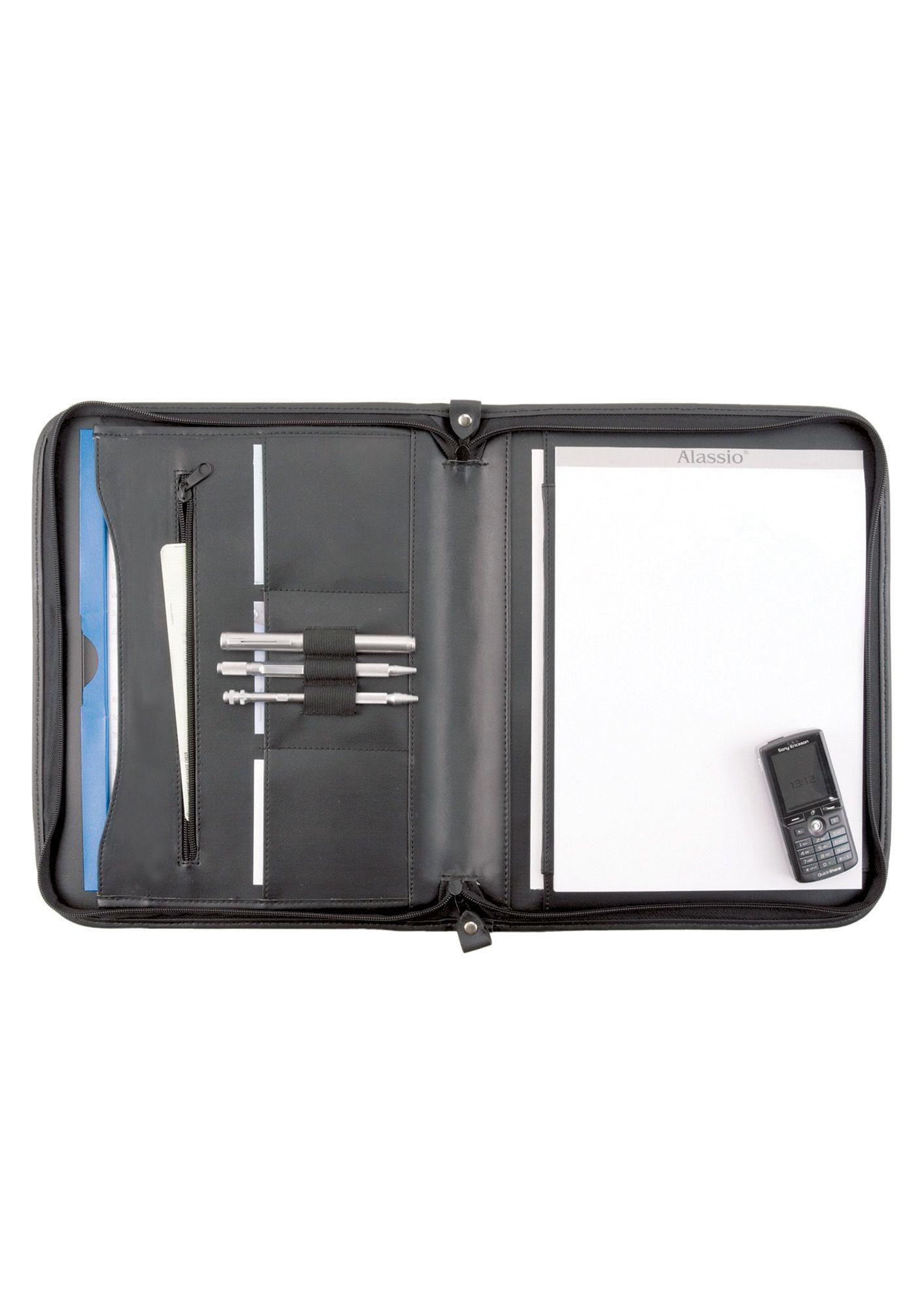 ALASSIO® Alassio® Schreibmappe aus Leder mit Reißverschluss A4, »Milano«