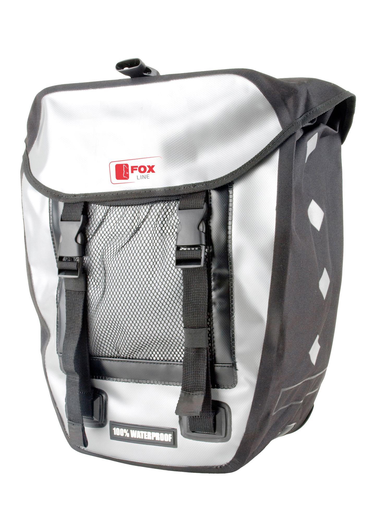 FOX LINE Fox Line Fahrradtasche für Gepäckträger. schwarz-grau