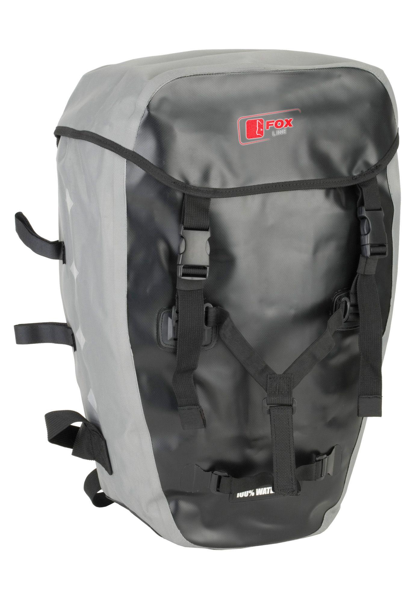 FOX LINE Fox Line Fahrradrucksack für Gepäckträger, schwarz-grau