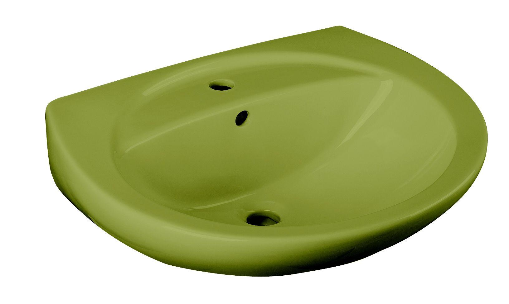 CORNAT Cornat Keramik Waschtisch/ Waschbecken »Moosgrün«, Breite 59,5 cm
