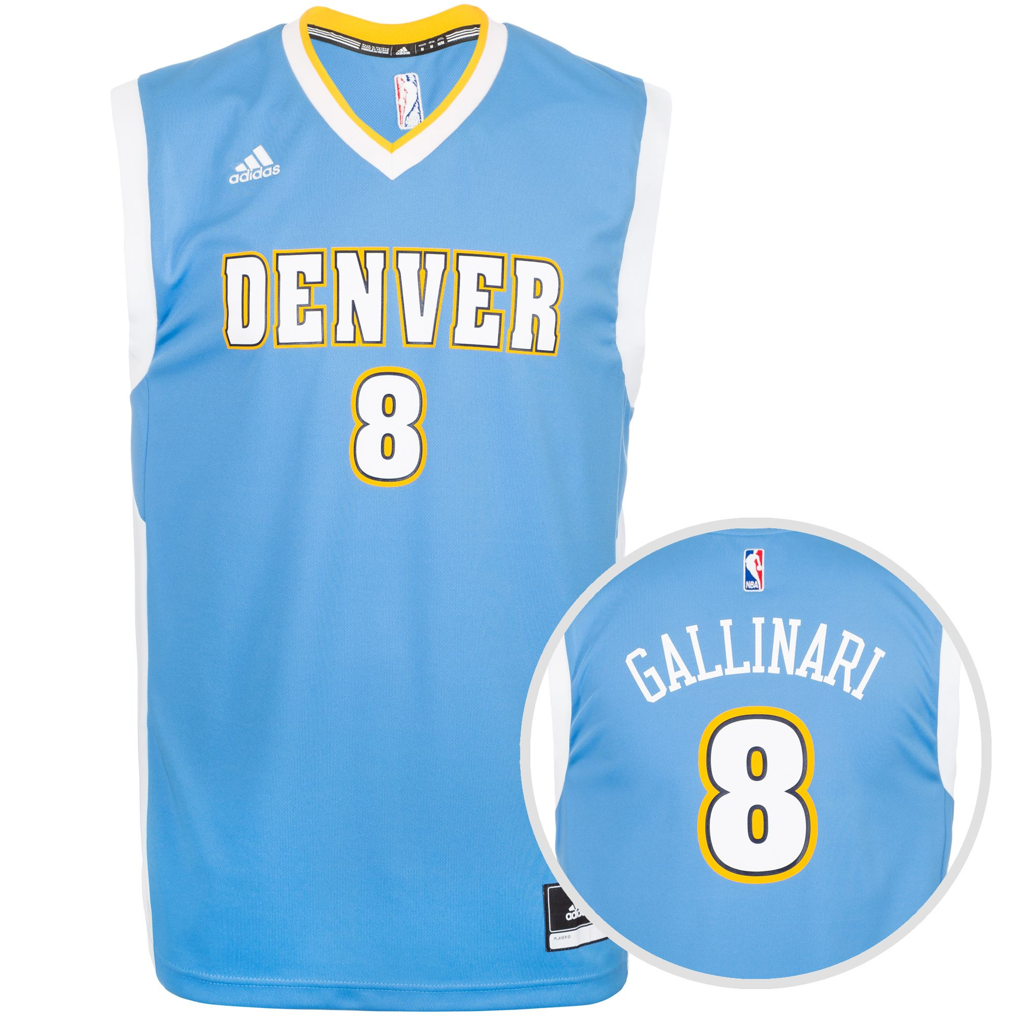 ADIDAS PERFORMANCE adidas Performance Denver Nuggets Gallinari Replica Basketballtrikot Herren