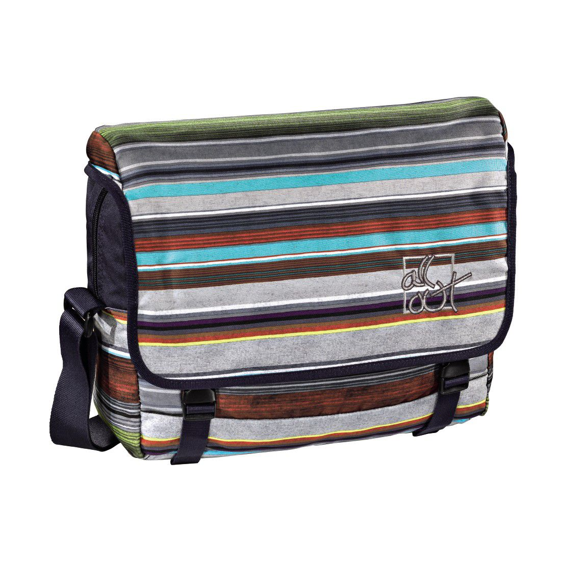 ALL OUT All Out Schultertasche Barnsley, Waterfall Stripes