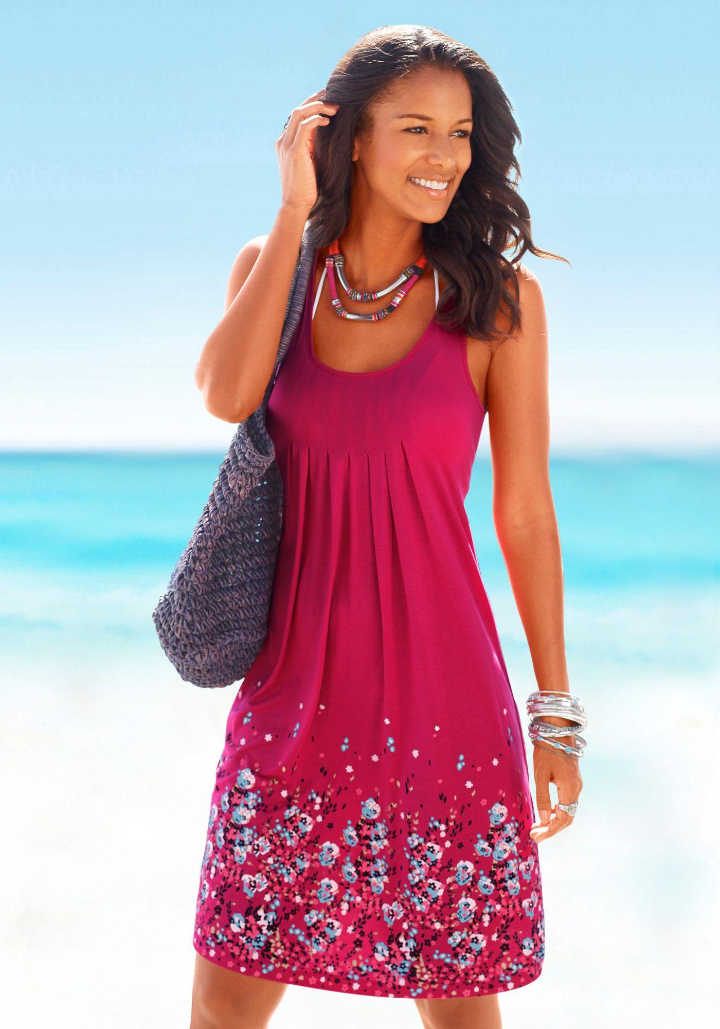 BEACHTIME Beachtime Strandkleid mit Blumenprint