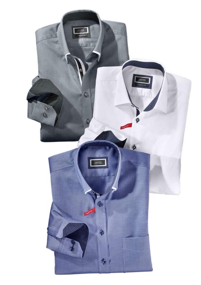 HATICO Hatico Hemd mit Doppelkragen