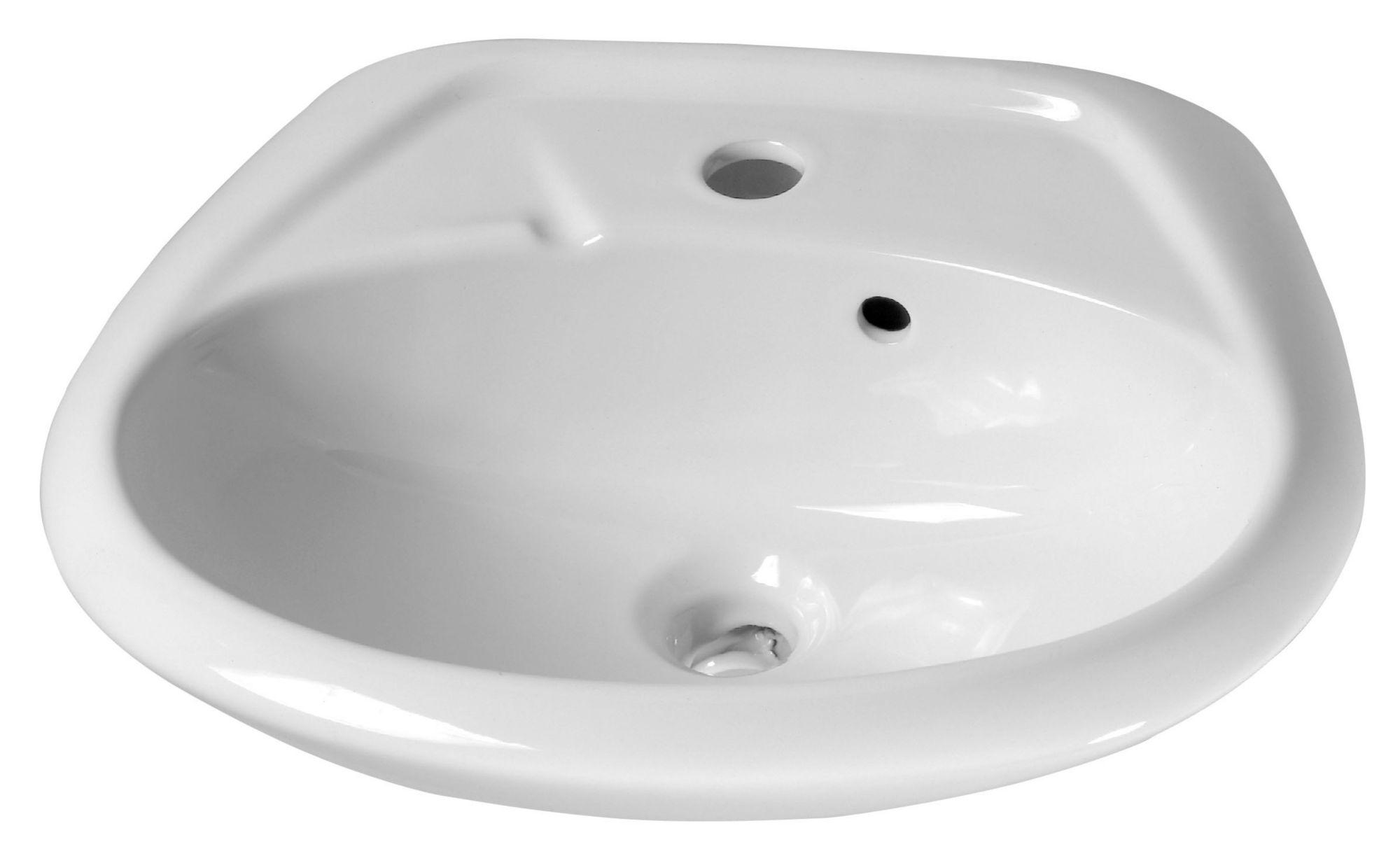 CORNAT Cornat Keramik Waschtisch / Waschbecken »Alpha«, Breite 47 cm