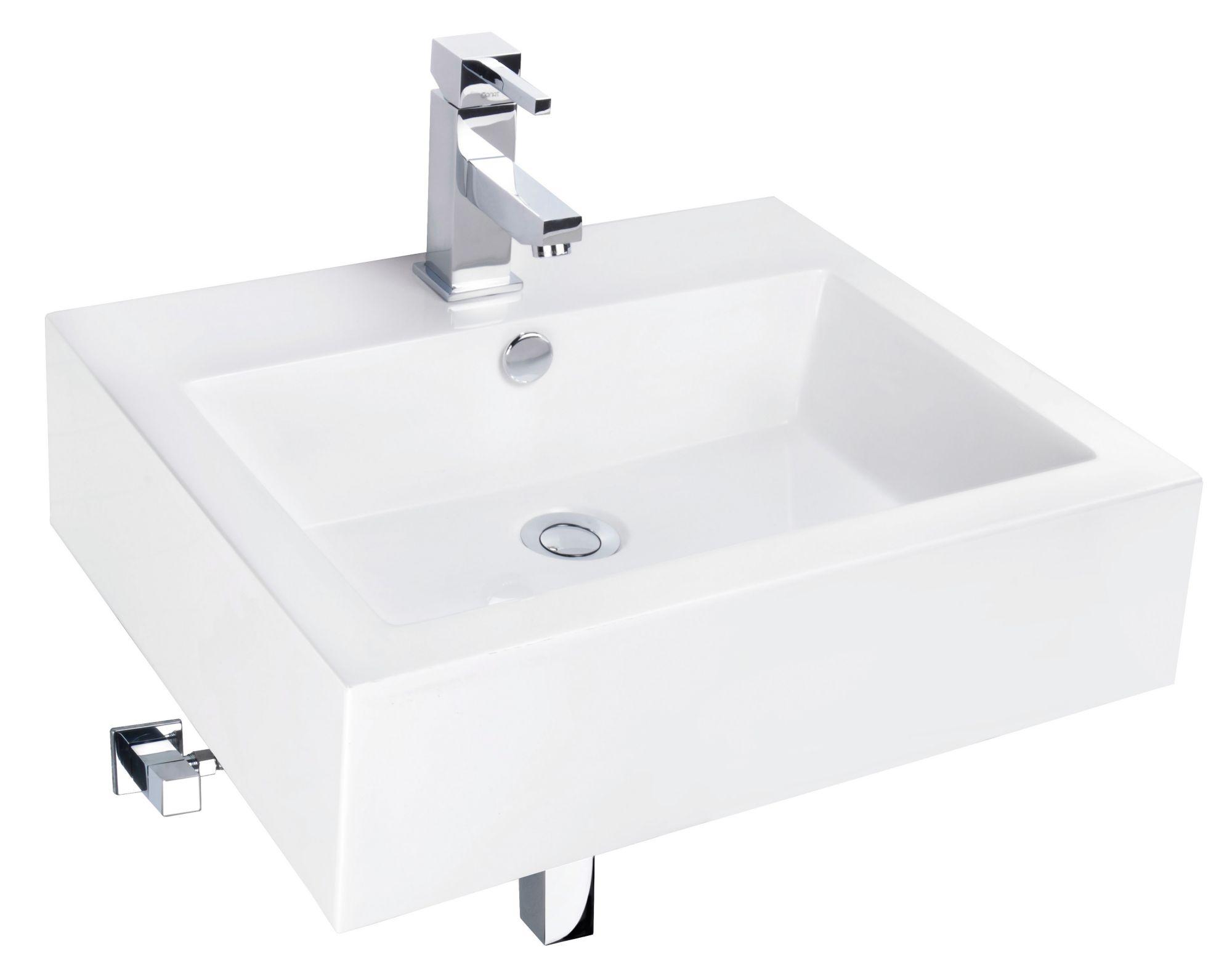 CORNAT Cornat Mineralgussmarmor Waschtisch / Waschbecken »Fenno« Breite 55 cm
