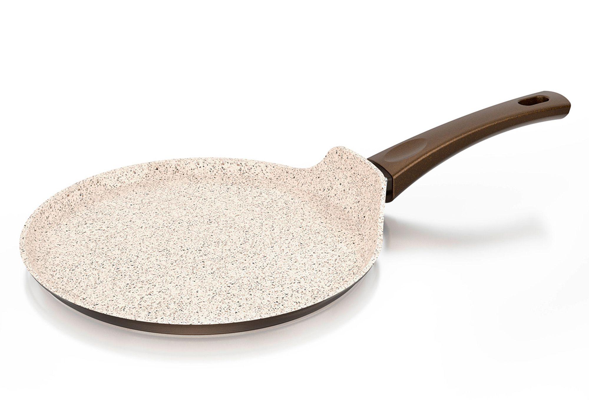 GENIUS Genius® Cerafit®Granit-Grand-Edition Crepes-Pfanne, Keramikbeschichtung, Ø 26 cm
