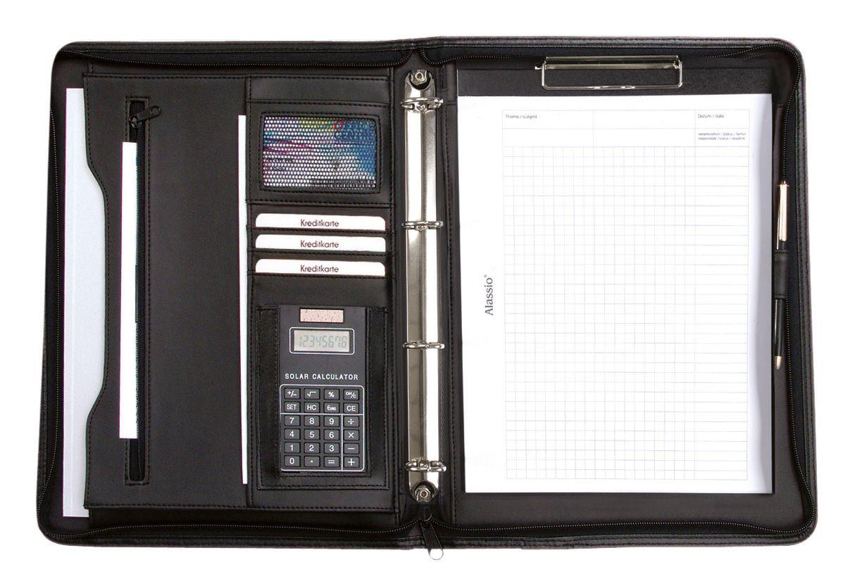 ALASSIO® Alassio® Ringbuchmappe mit Taschenrechner A4, »Manerbo«