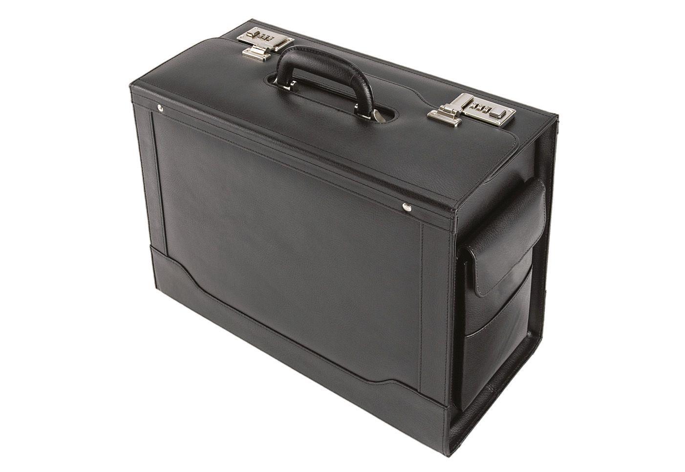 ALASSIO® Alassio® Pilotenkoffer aus Leder mit Laptopfach, »Ancona«