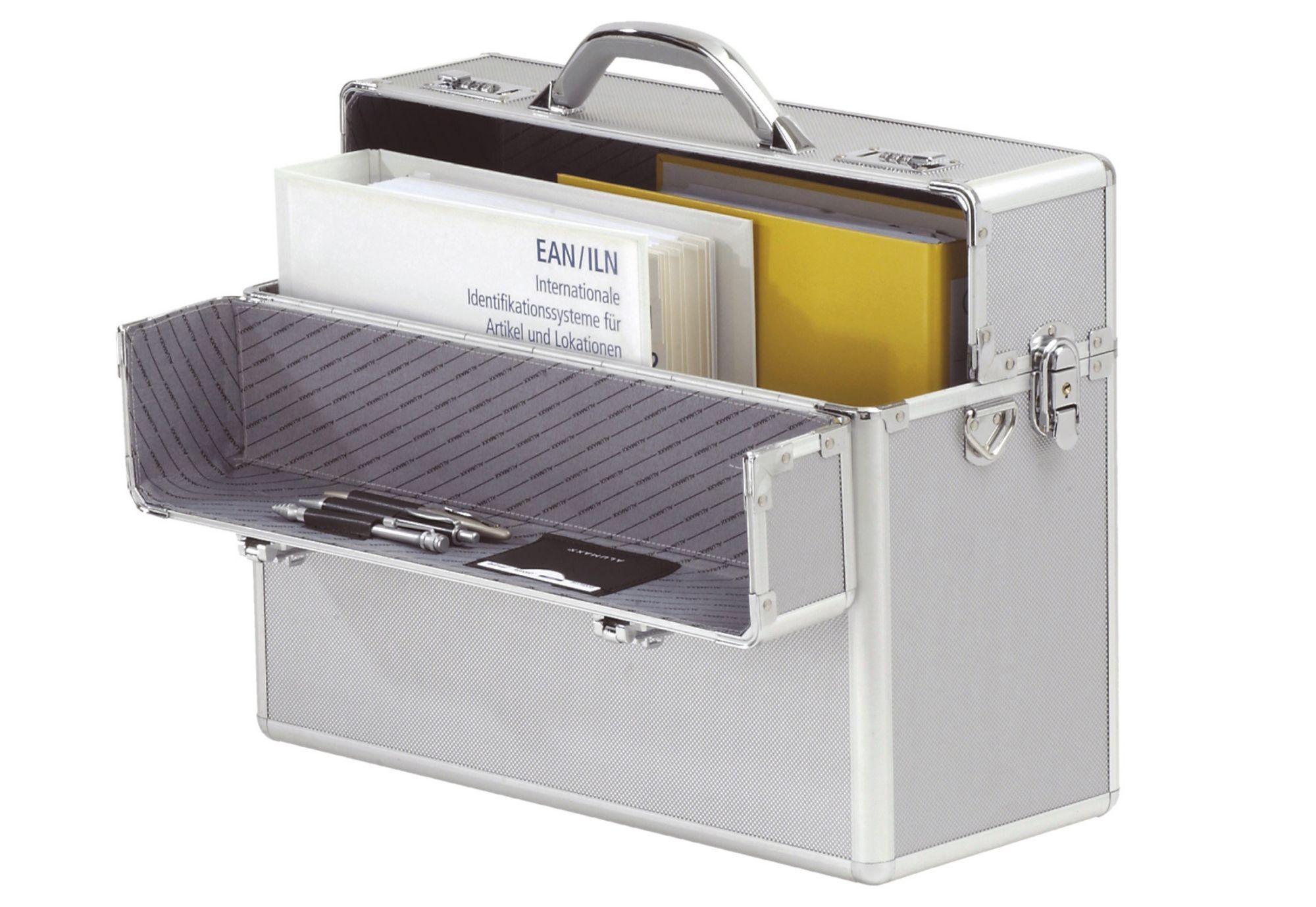Alumaxx® Pilotenkoffer aus Aluminium, »Alpha, silber«