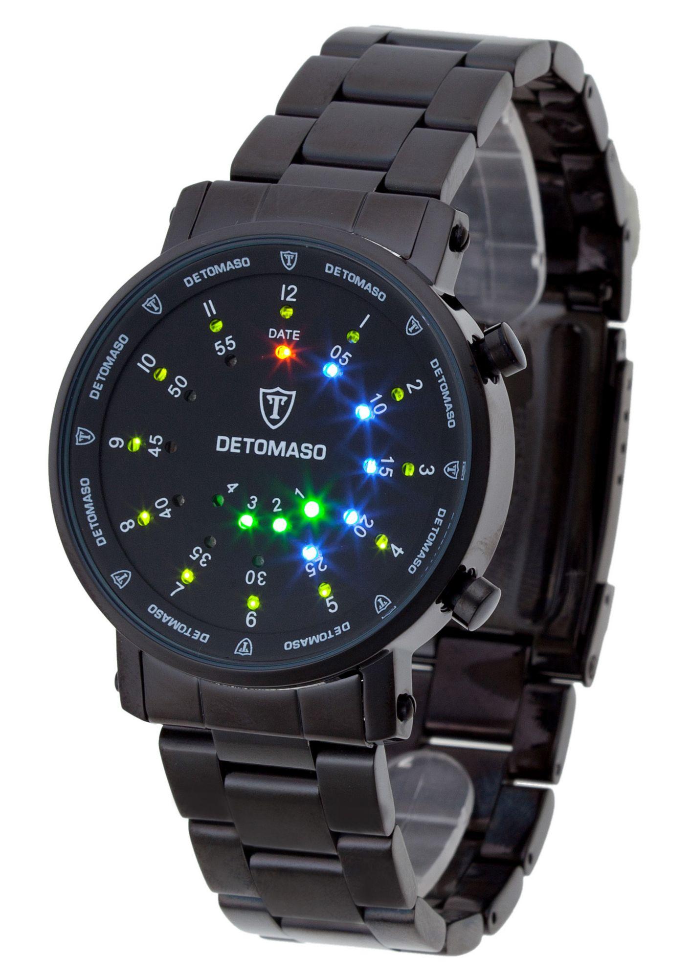 DETOMASO Detomaso Quarzuhr »Spacy Timeline 2, G-30730B«