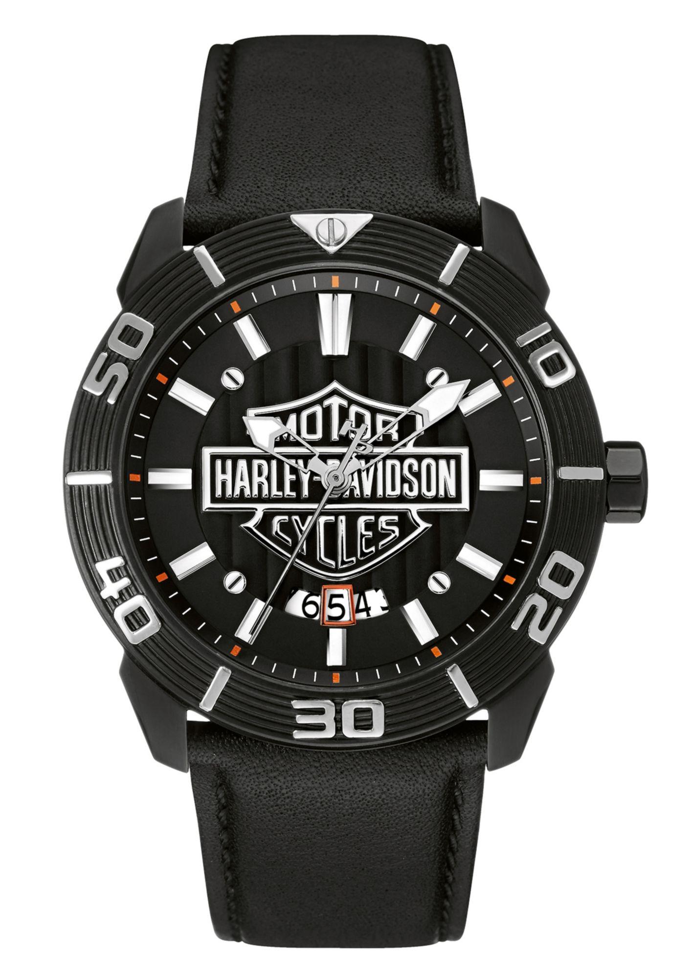 HARLEY DAVIDSON Harley Davidson Quarzuhr »Raised Brake Lever, 78B136«