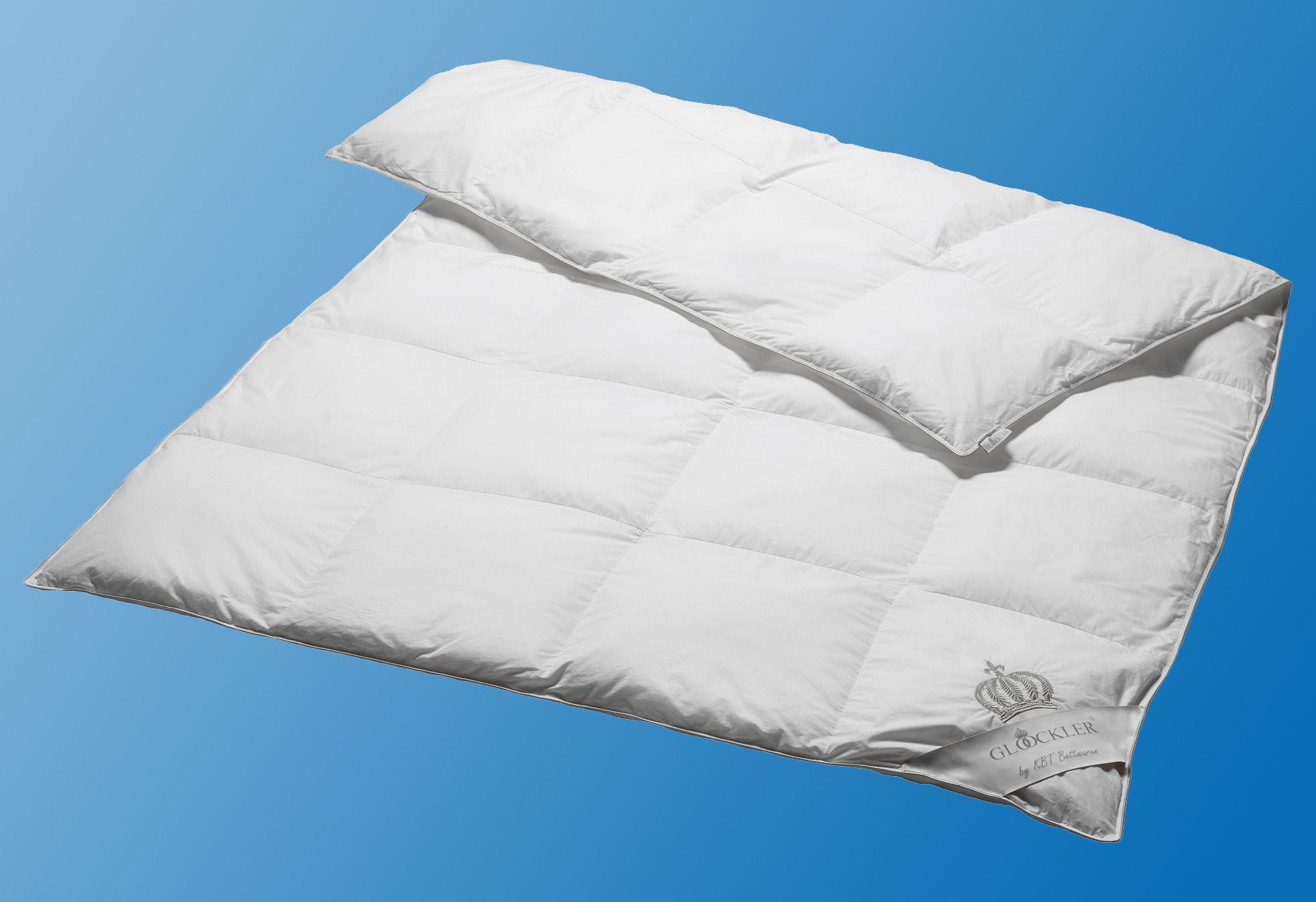 GLÖÖCKLER BY KBT BETTWAREN Daunenbettdecke Glööckler by KBT Bettwaren Platin, Warm, 60% Daunen, 40% Federn