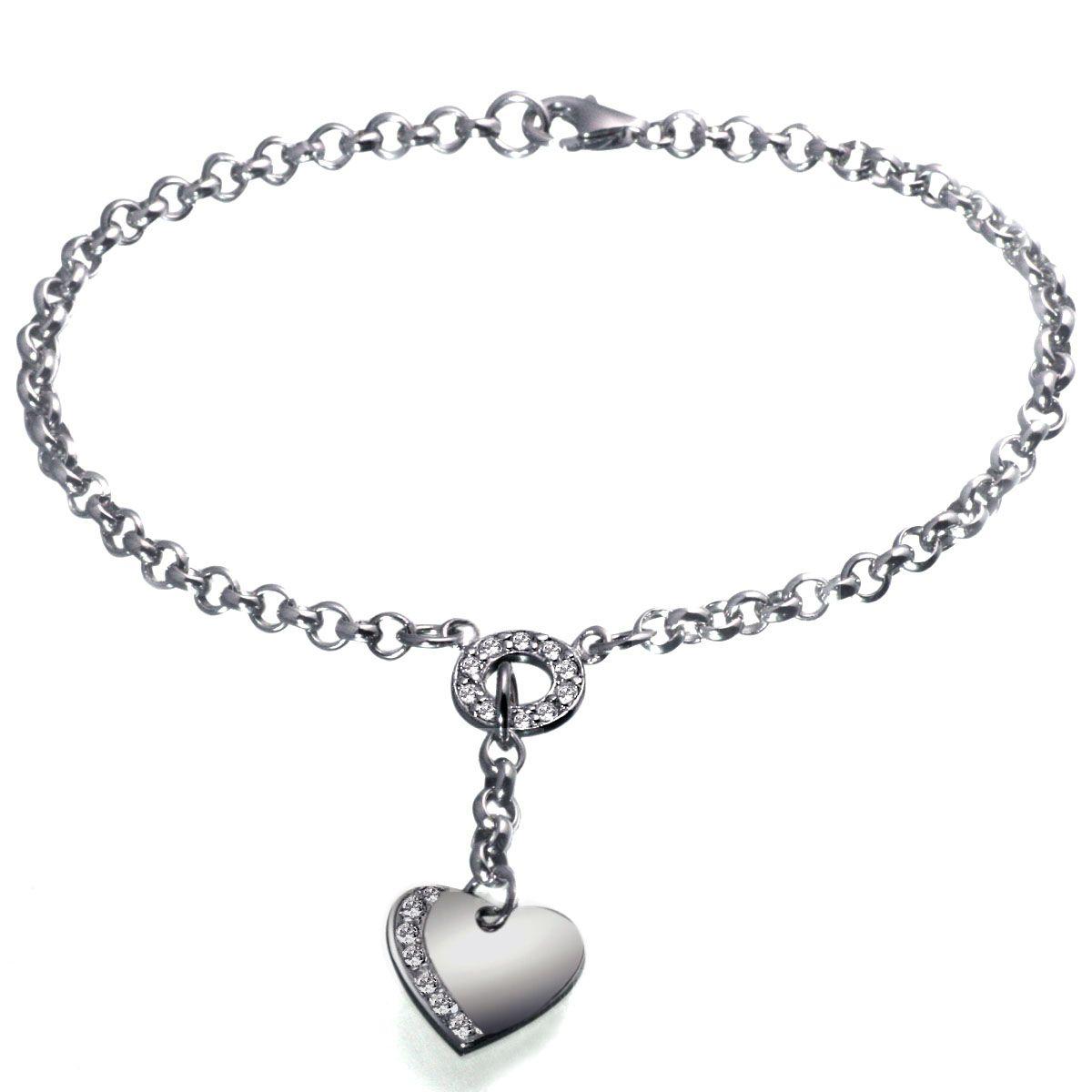 AVERDIN Averdin Armband 925/- Sterlingsilber Herz klare Steine