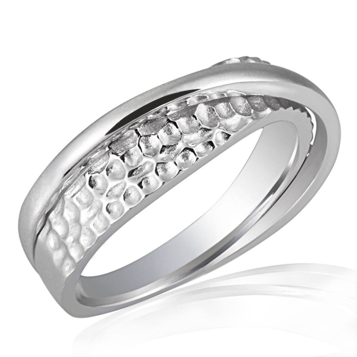 AVERDIN Averdin Damenring Silber 925 gehämmert tolles Design