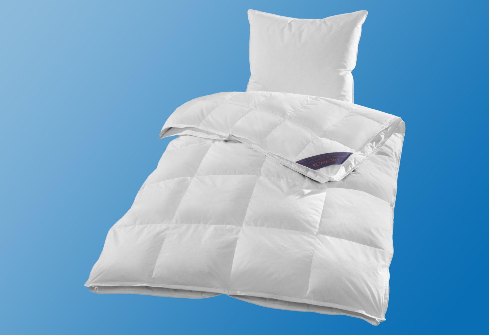 RIBECO 4-Jahreszeiten-Bettdecke Ribeco Jonas, 4-Jahreszeiten, in unterschiedlichen Füllqualitäten
