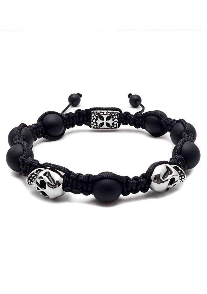 FIRETTI Firetti Armband »Makramee, Totenköpfe / Skulls«