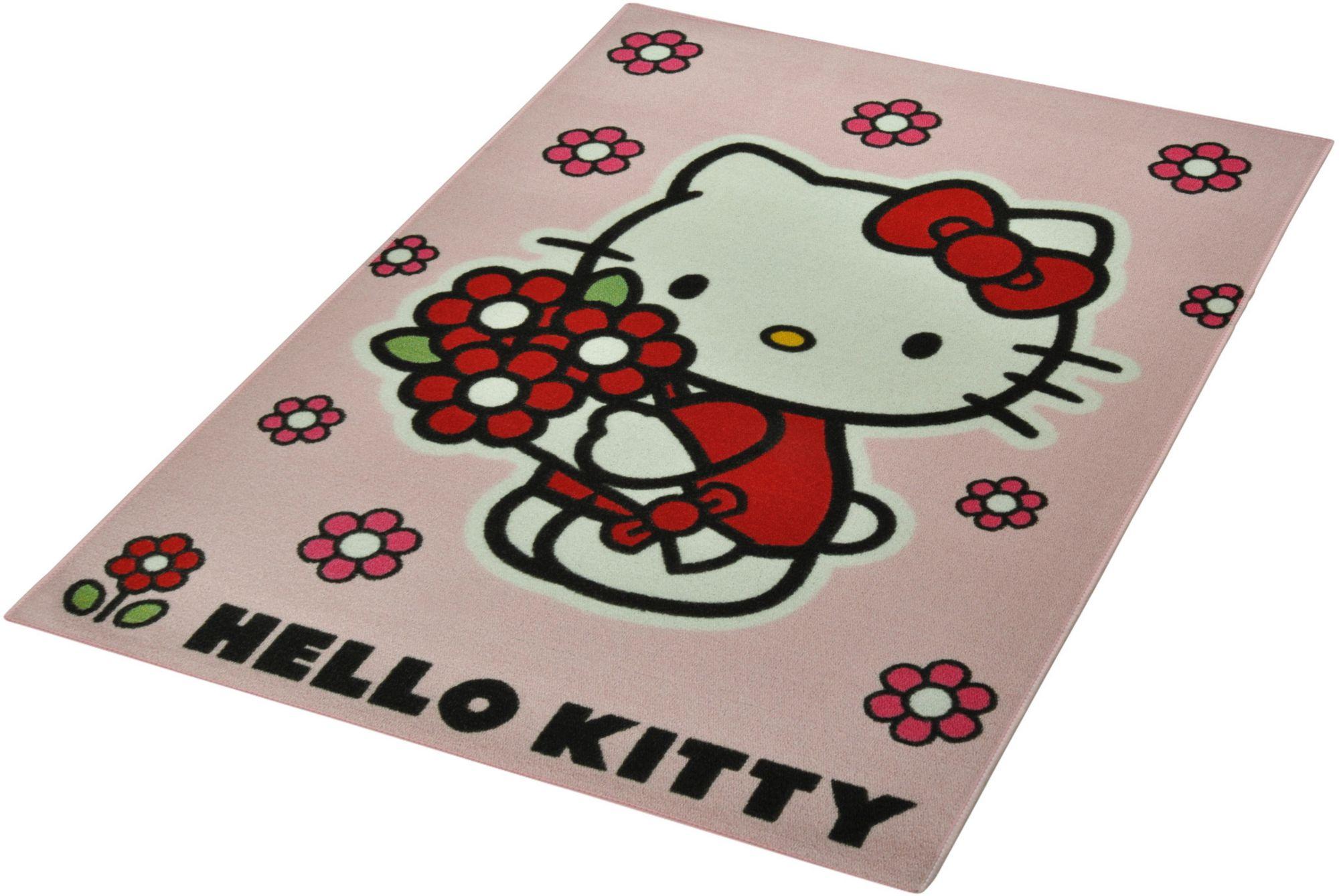 HELLO KITTY Kinder-Teppich, Hello Kitty Lizenz Teppich »Hello Kitty - Flower«, getuftet