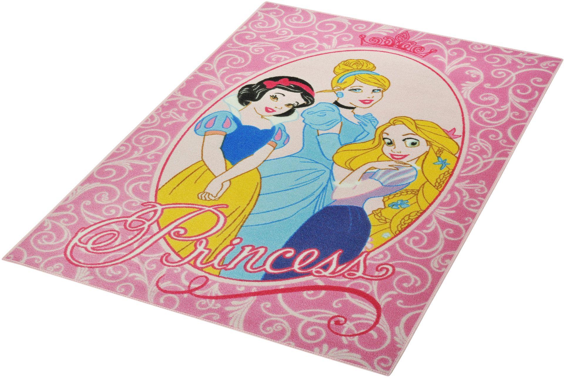 DISNEY Kinder-Teppich, Disney Lizenz Teppich »Princess«, getuftet