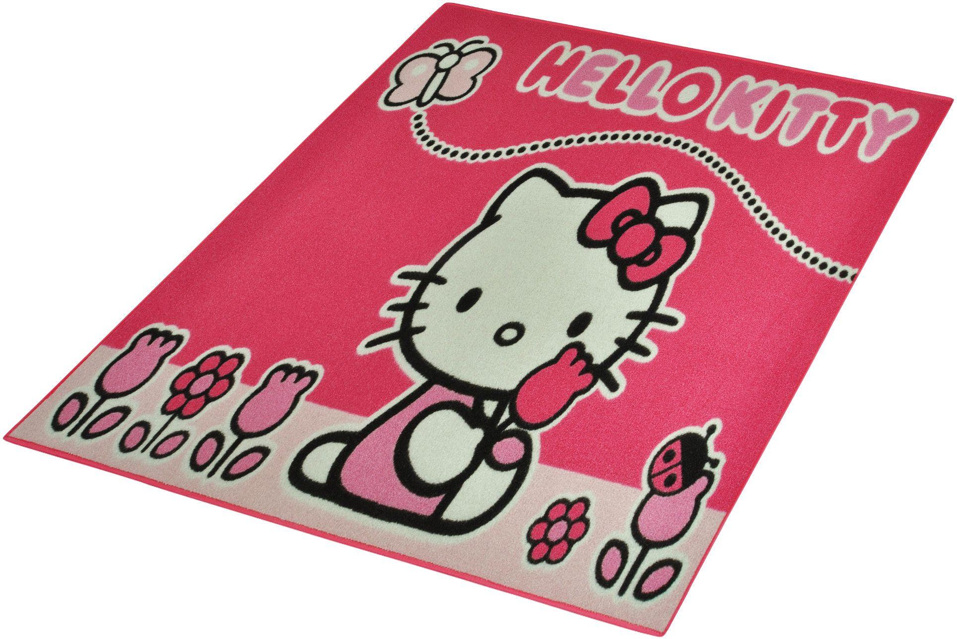 HELLO KITTY Kinder-Teppich, Hello Kitty Lizenz , »Hello Kitty - Schmetterling«, getuftet