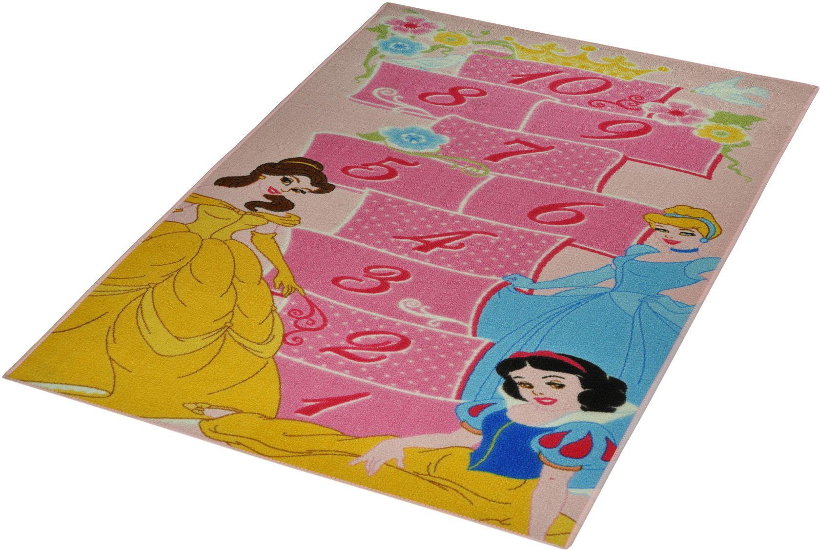 DISNEY Kinder-Teppich, Disney Lizenz Teppich »Princess - Hüpfspiel«, getuftet