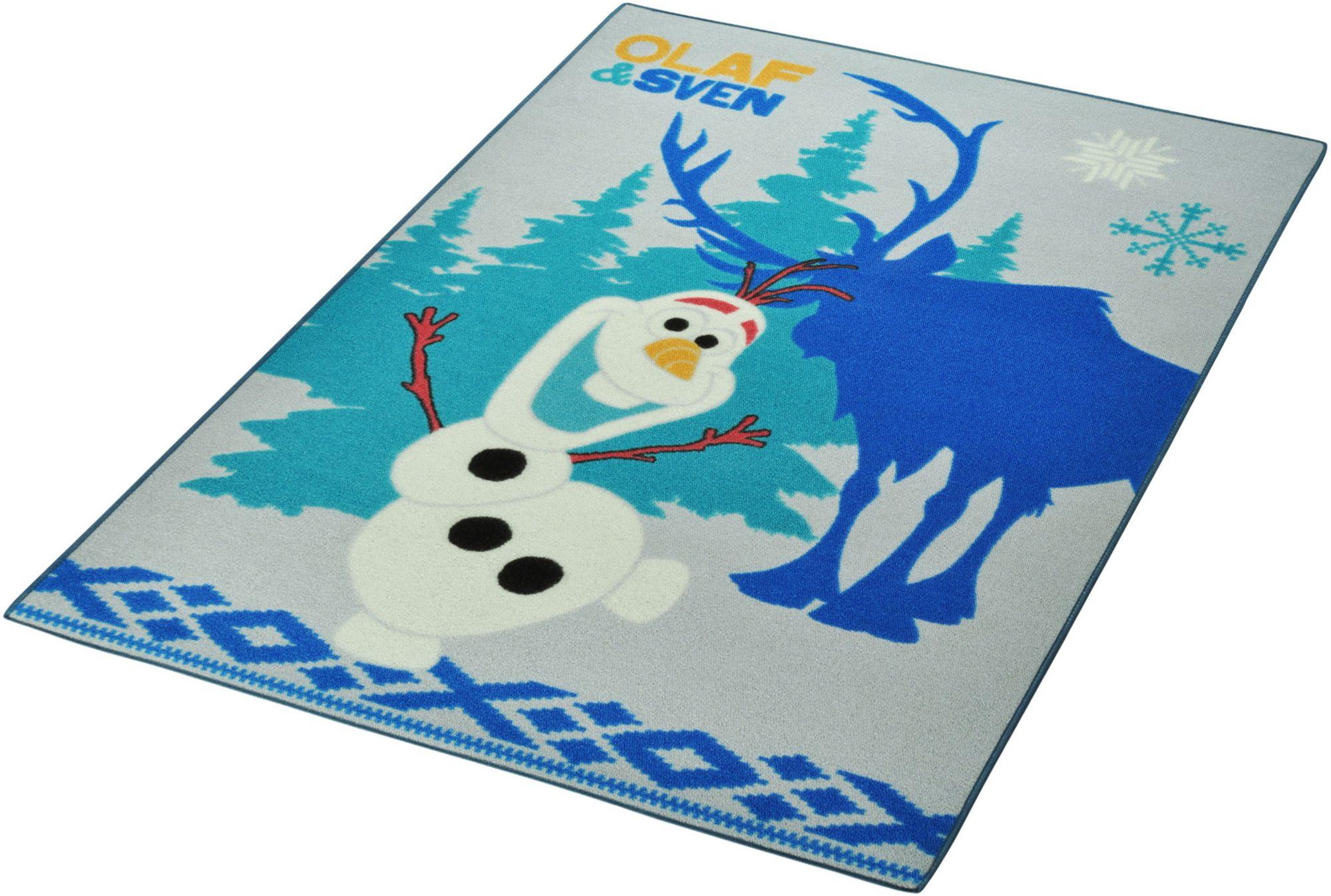 DISNEY Kinder-Teppich, Disney Lizenz Teppich »Frozen / Die Eiskönigin - Olaf & Sven«, getufte