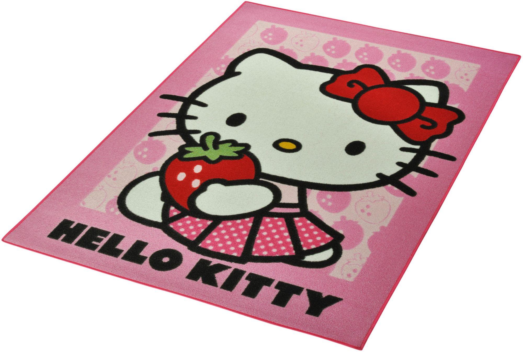 HELLO KITTY Kinder-Teppich, Hello Kitty Lizenz Teppich »Hello Kitty - Strawberry«, getuftet