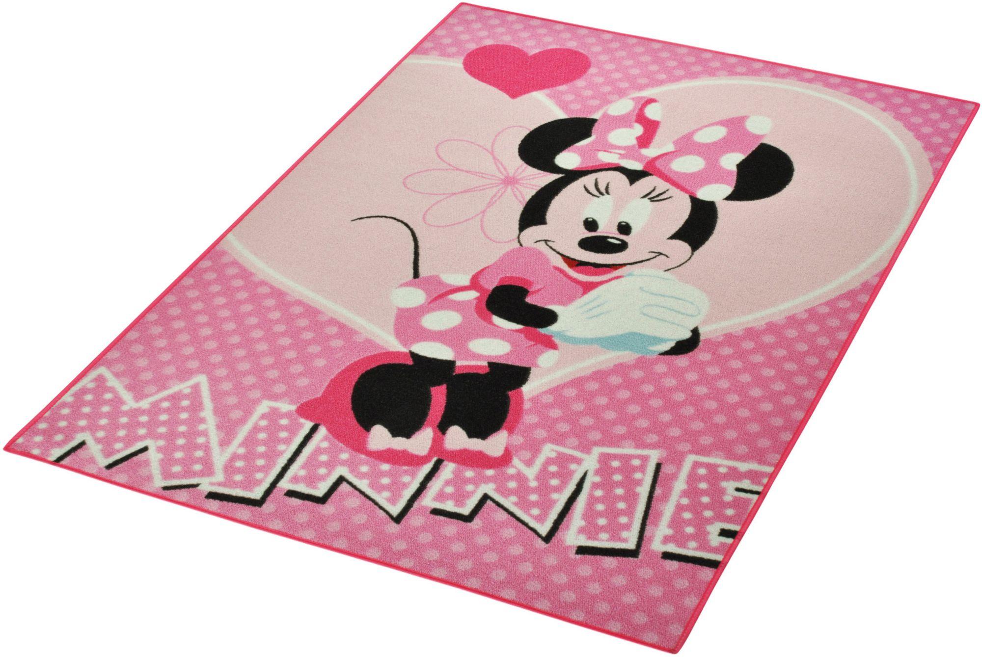 DISNEY Kinder-Teppich, Disney Lizenz Teppich »Minnie«, getuftet