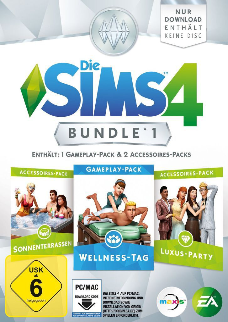 ELECTRONIC ARTS Die Sims 4 Bundle Pack 1 (Code only) (PC)