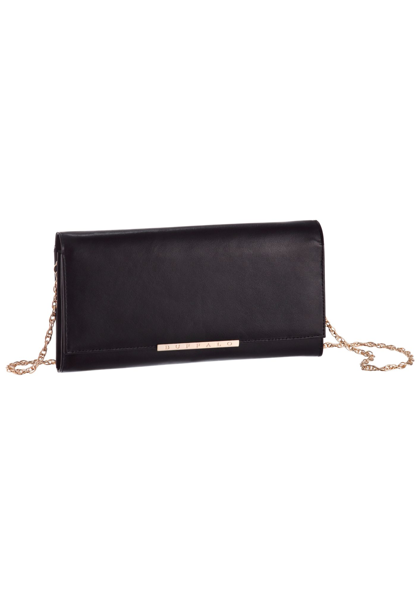 BUFFALO Buffalo Clutch mit goldfarbenen Applikationen